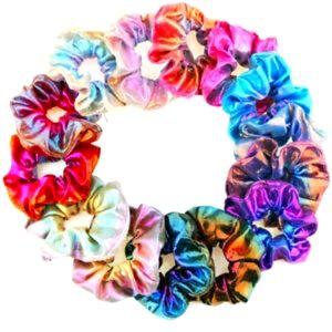 10 x metallic scrunchies